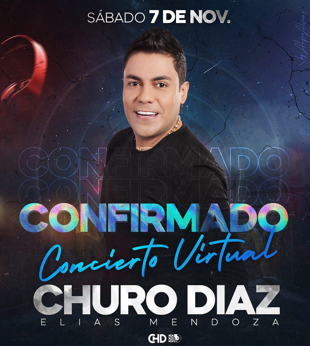 Se confirma el Concierto Virtual de Churo Díaz.