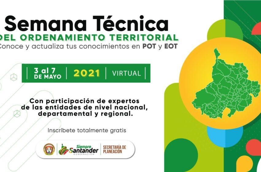 Semana Técnica del Ordenamiento Territorial en Santander