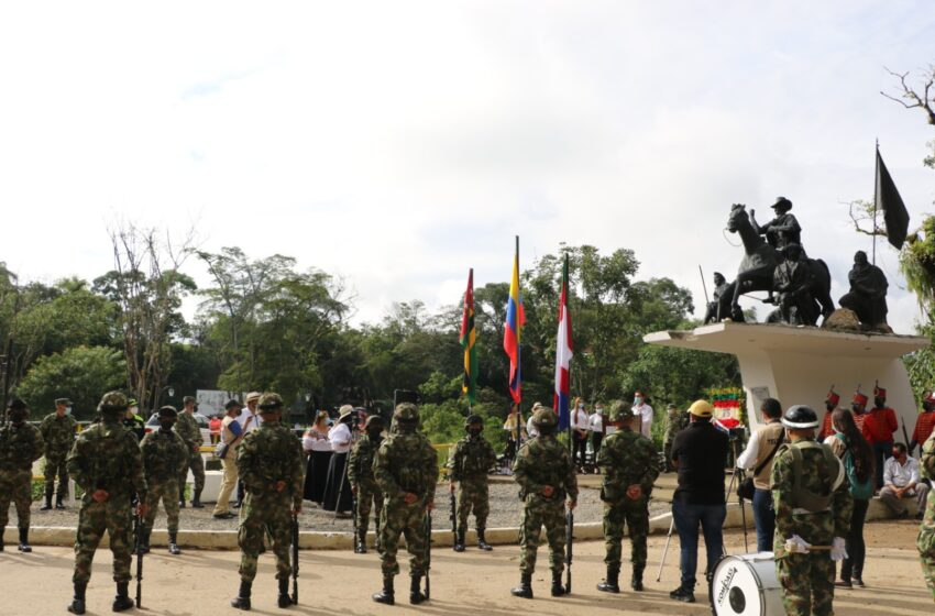 En Santander  Ejército Nacional se vinculó a la celebración de los 202 años de la Batalla de Pienta